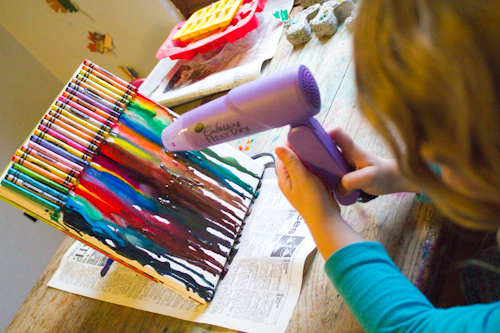 Canvas art school projects for young ones canvaslot for How to make a melted crayon art canvas
