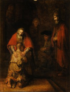 The Return of the Prodigal Son by Rembrandt, c. 1669.