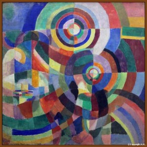 Sonia Delaunay - Prisms Electriques (This painting is made extra special by the reference to great swiss/french poet Blaise Cendrars!)