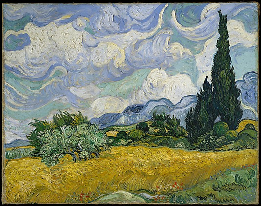Wheat Field with Cypresses_Van_Gogh