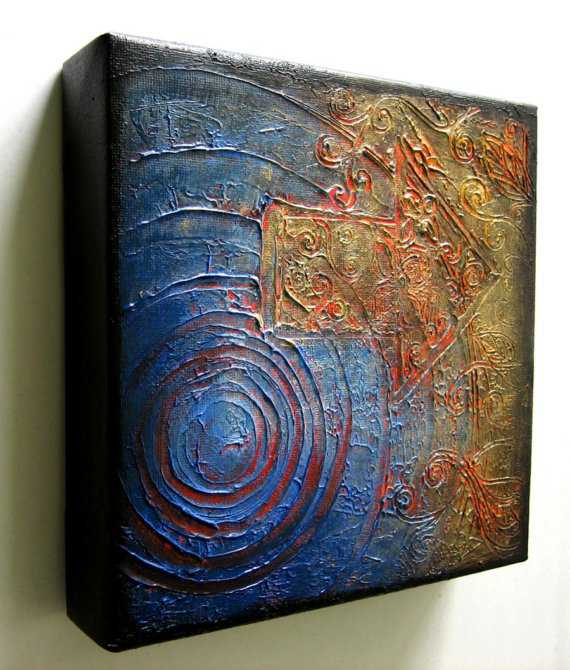 Ways to create texture to your arwork for Texture painting ideas canvas